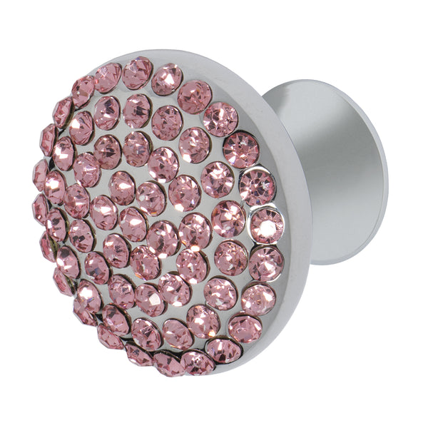 "Wisdom Stone Vivacite 1-1/4"" Chrome Cabinet and Drawer Knob with Crystal"