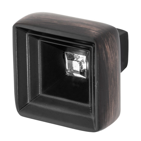 Bronze Cabinet Knob With Crystal, Hidden Treasure by Wisdom Stone