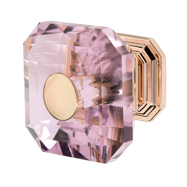 Wisdom Stone Clubhouse Rose Gold Drawer and Cabinet Knob With Crystal