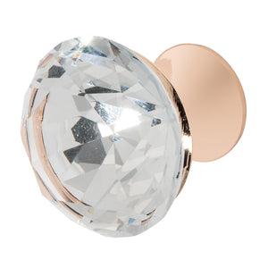 Wisdom Stone Nina Rose Gold Drawer and Cabinet Knob With Crystal