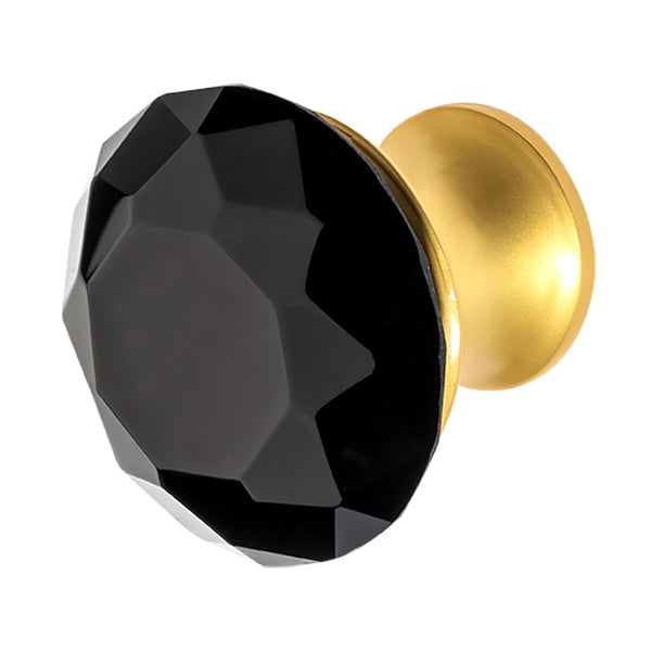 Wisdom Stone Nina Satin Gold Drawer and Cabinet Knob With Crystal