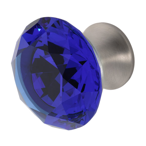 Wisdom Stone Nina Satin Nickel Drawer and Cabinet Knob With Crystal