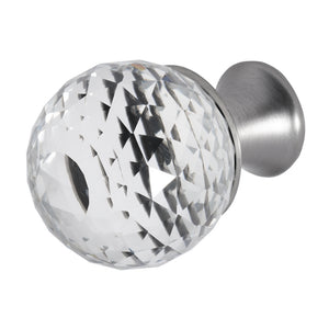 Wisdom Stone Rondure Satin Nickel Drawer and Cabinet Knob With Crystal