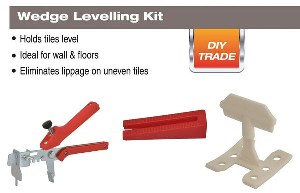 "DTA Wedge Leveling System for Thin Porcelain Panels, 250pc 1/16"" Spacers Kit"
