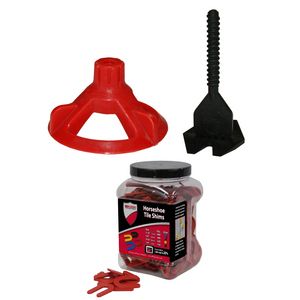 Spin Doctor Tile Leveling System with Horseshoe Tile Spacers 1/8 Inch Set