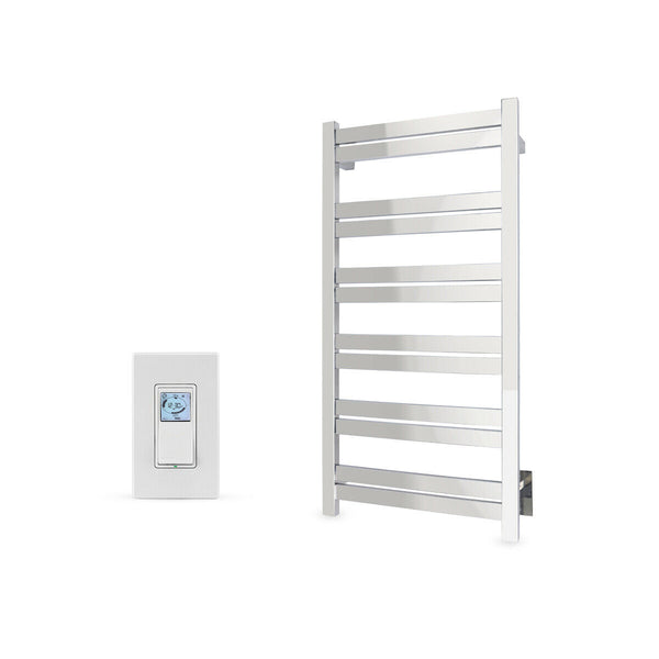 Polished Towel Warmer Hardwired 12 Bars Programmable Timer WarmlyYours Grande 12