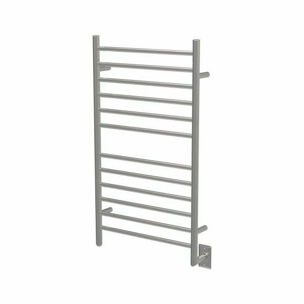 "Amba RWHL-SB Radiant Hardwired Large Straight Towel Warmer, Brushed W 23"" H 40"""