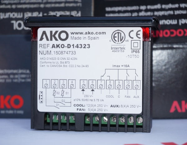 AKO D-14323 230v Digital Temperature Controller for Commercial Freezers