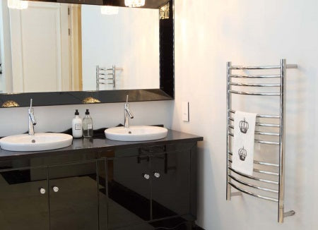 Mounted Towel Warmer - Jeeves C Curved