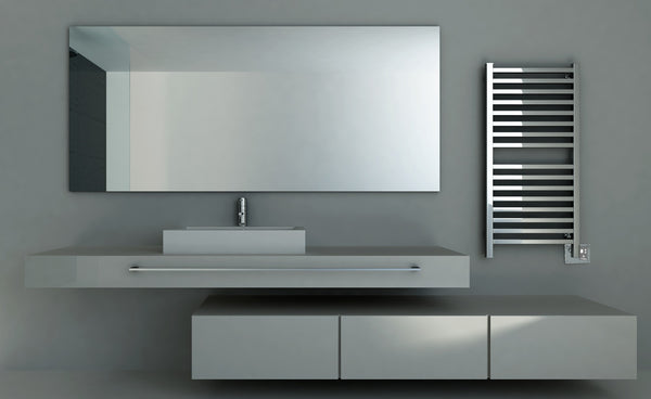 Contemporary wall mounted towel warmer