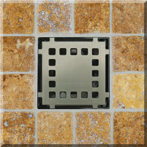 Ebbe Unique Square Shower Drain Grate Cinema