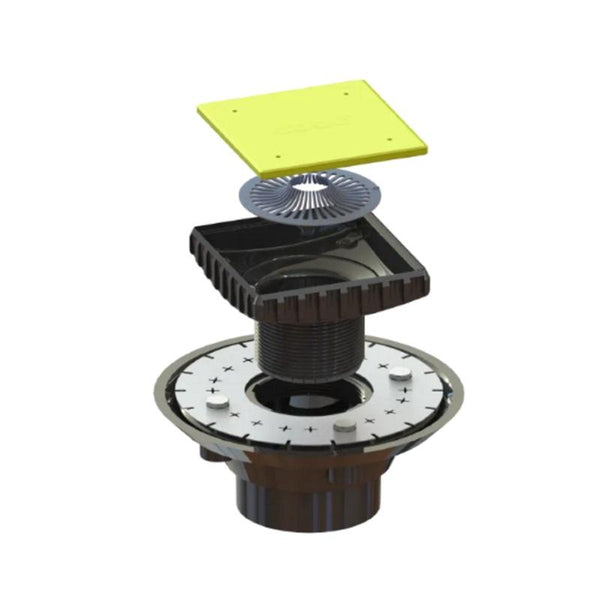 Ebbe E4407 Oil Rubbed Bronze Square Shower Drain With Rough-in Adapter Kit