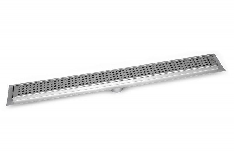 SereneDrains 35 Inch Linear Shower Drain Square Design