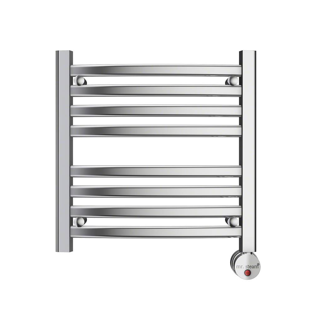 Mr. Steam W219TPC 8-Bar Wall Mounted Towel Warmer with Digital Timer & Aromatherapy Oil Well