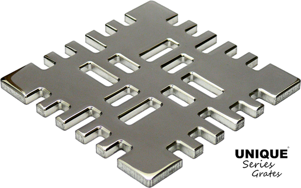Ebbe Unique Square Shower Drain Grate Metro