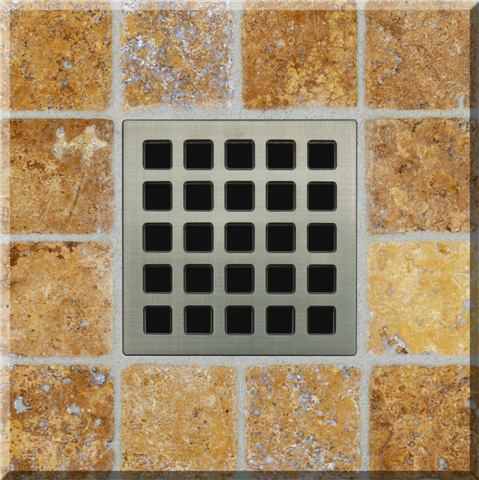 Ebbe Unique Square Shower Drain Grate Mission