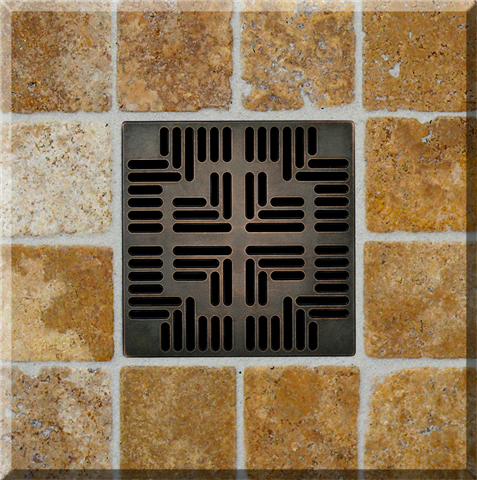 Ebbe Unique Square Shower Drain - Grate Navajo