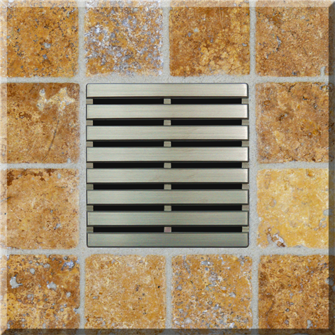 Ebbe Square Shower Drain Parallel Design