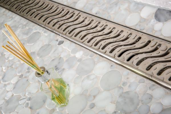 Royal Linear Shower Drain by Serene Steam