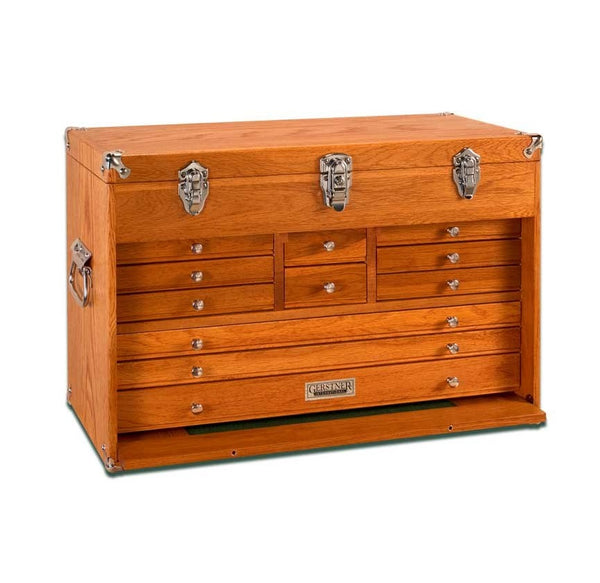 Gerstner International GI-T24 Red Oak 11-Drawer Hobby Chest