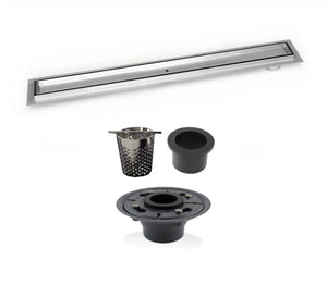 Side Outlet 16 Inch Linear Shower Drain Complete Installation Kit SereneDrains