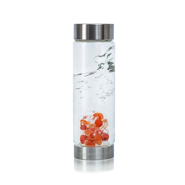 VitaJuwel ViA Gem Water Bottles With GemPod Crystals - Passion