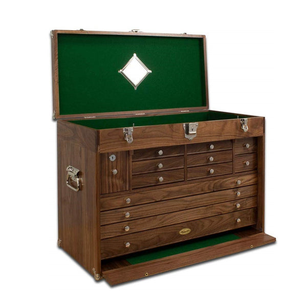 Gerstner 2613 Pro Series Wood Chest for Hobby Supplies, Jewelry, Valuables Storage
