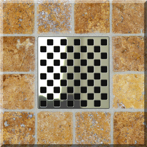 Ebbe Unique Square Shower Drain Grate Weave