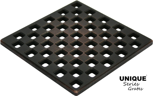 Ebbe Unique Square Shower Drain - Grate Weave