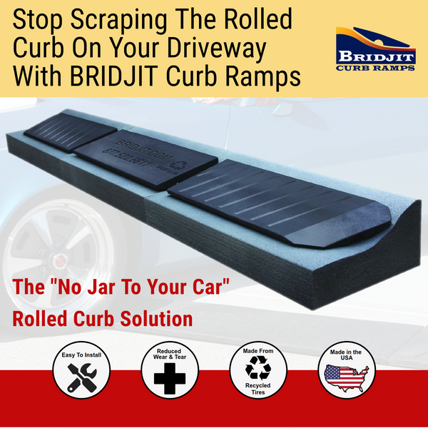 Bridjit 4-Piece Expandable Curb Ramp Set for 16 ft Driveways