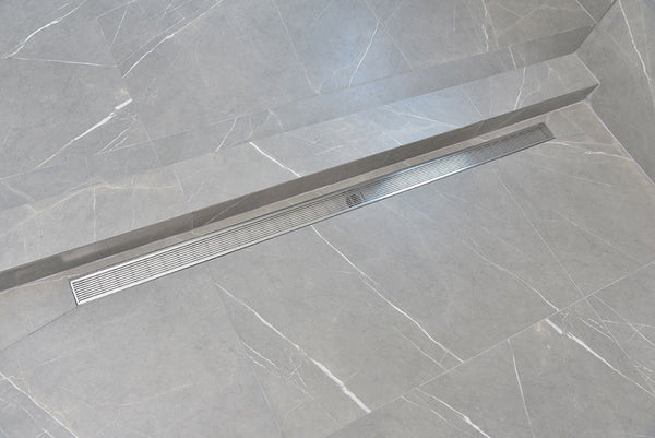 SereneDrains 16 Inch Linear Shower Drain Linear Wedge Design