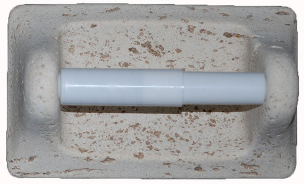 Cast Stone Toilet Tissue Holder – Mocha And Ivory