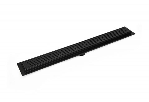 serene linear drain broken lane Matte Black