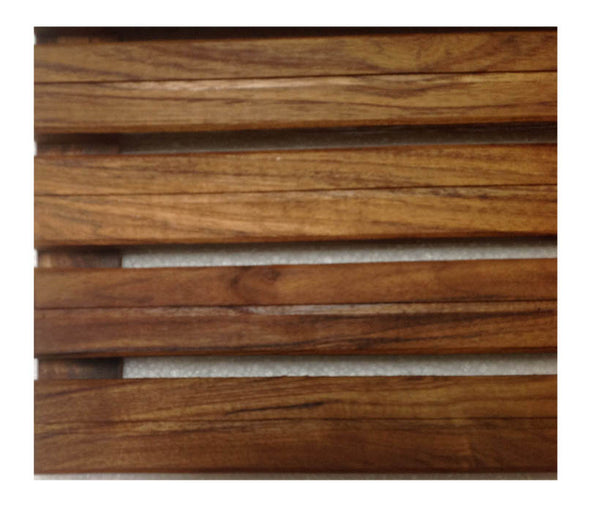 Single Groove FInish Teak Mat