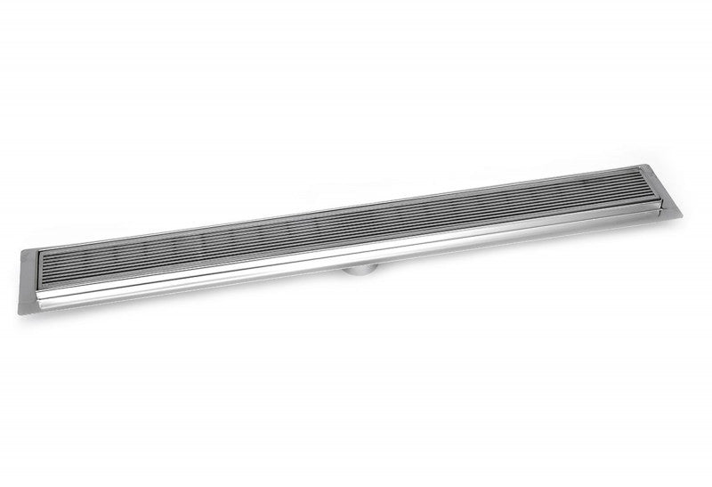 SereneDrains 47 Inch Linear Shower Drain Linear Wedge Design