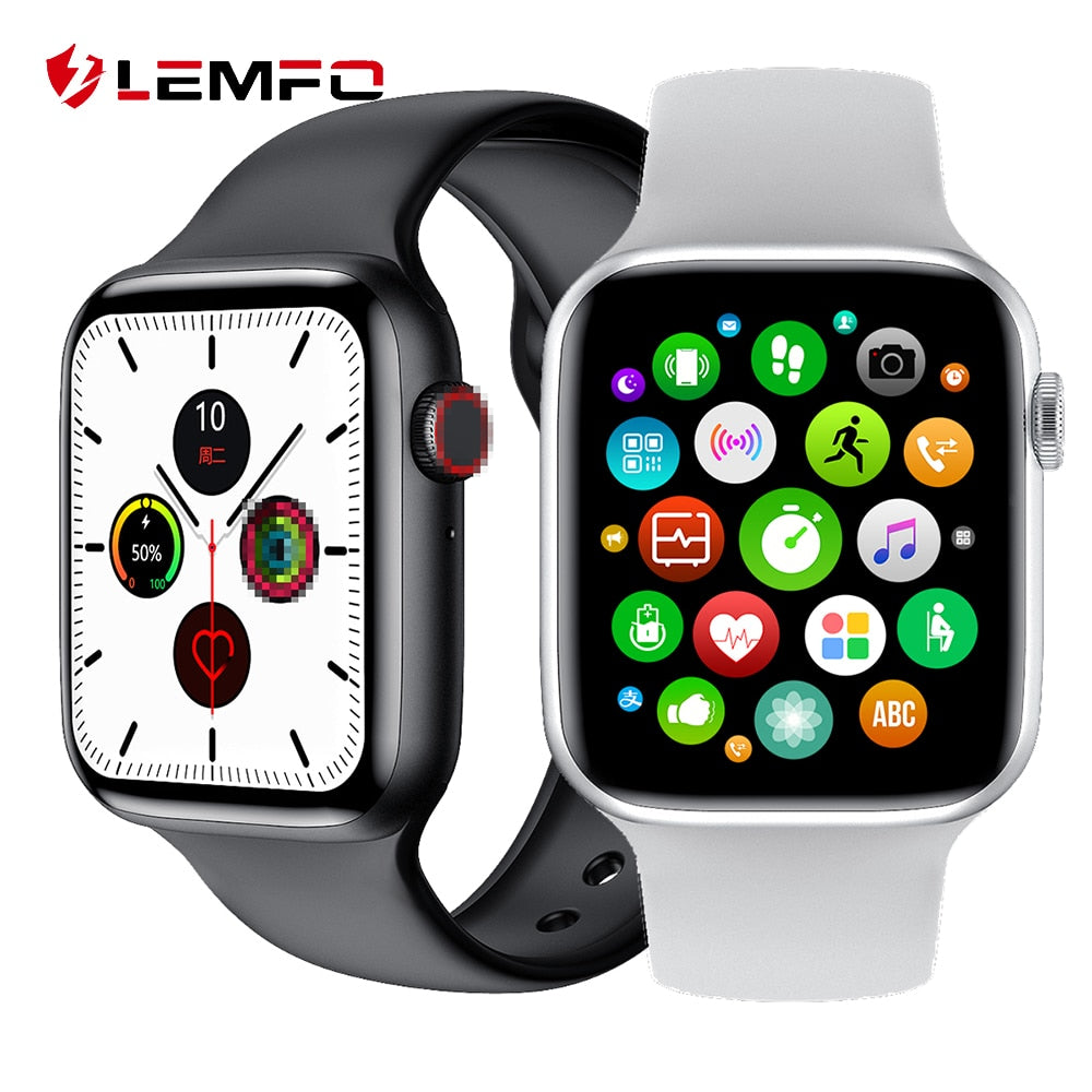 LEMFO W26 1.75 Inch 320*385 HD Screen Smart Watch 2020 PPG + ECG Body Temperature Bluetooth Call IP68 Waterproof Men SmartWatch