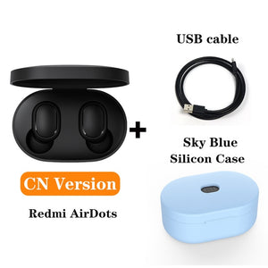Redmi Xiaomi Airdots TWS Bluetooth Earphones Wireless 5.0 Bluetooth Earphone AI Control Gaming Headset With Mic Noise reduction