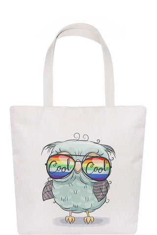 Stylish Cute Sunglasses Owl Print Ecco Tote Bag