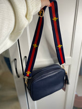 Load image into Gallery viewer, Navy crossbody bag