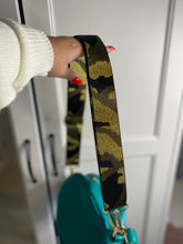 Load image into Gallery viewer, Khaki and Gold Camo Bag Strap
