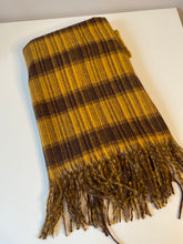 Load image into Gallery viewer, Mustard and Brown Cosy Scarf