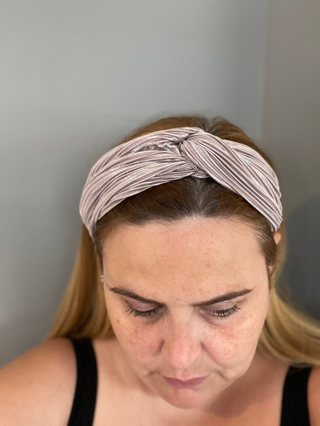 Grey Metallic Hairband