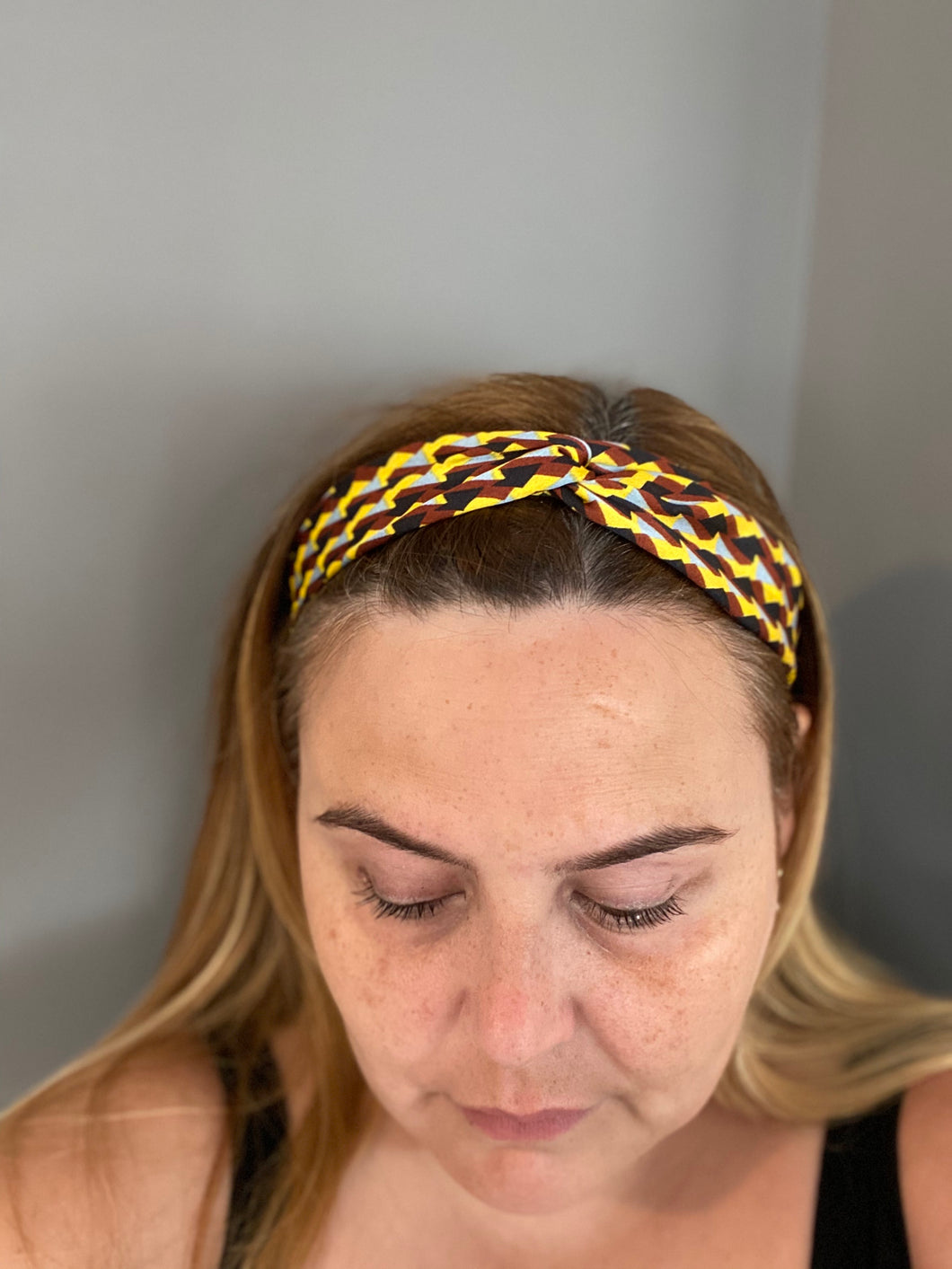 Geometric print hairband