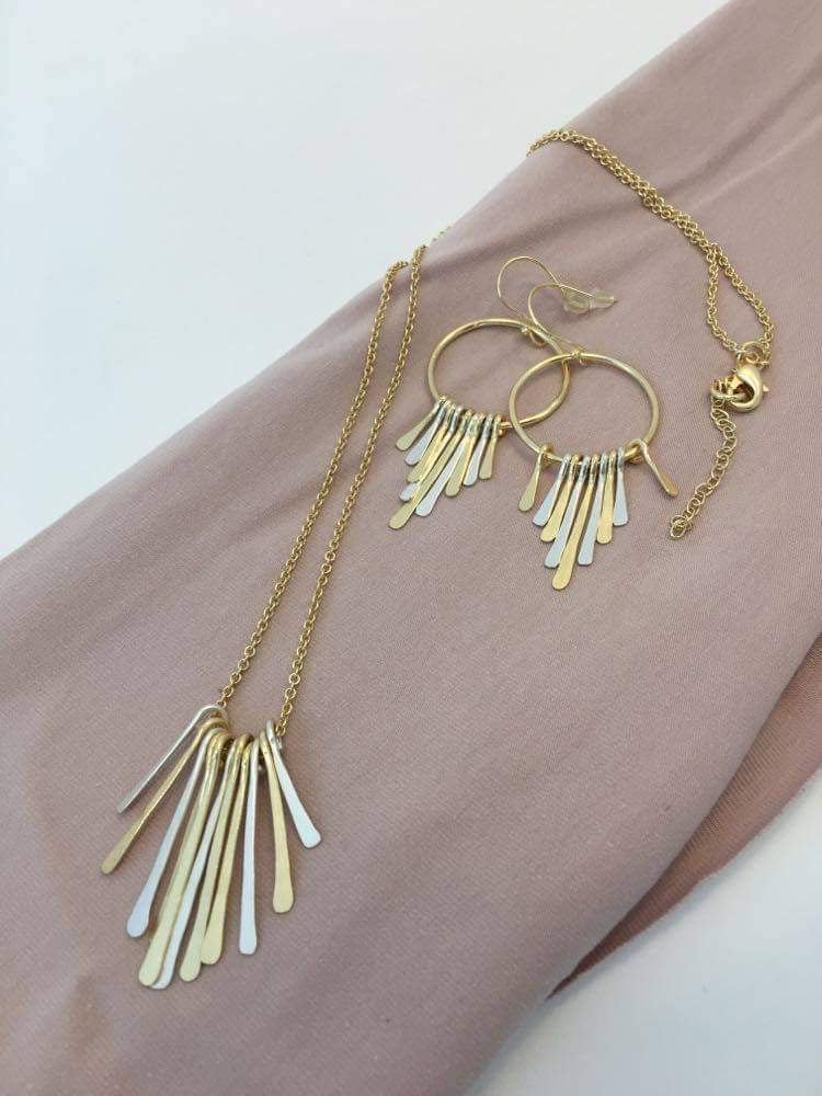 Mixed Metal Kara Necklace