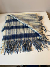 Load image into Gallery viewer, Blue and White Cosy Scarf