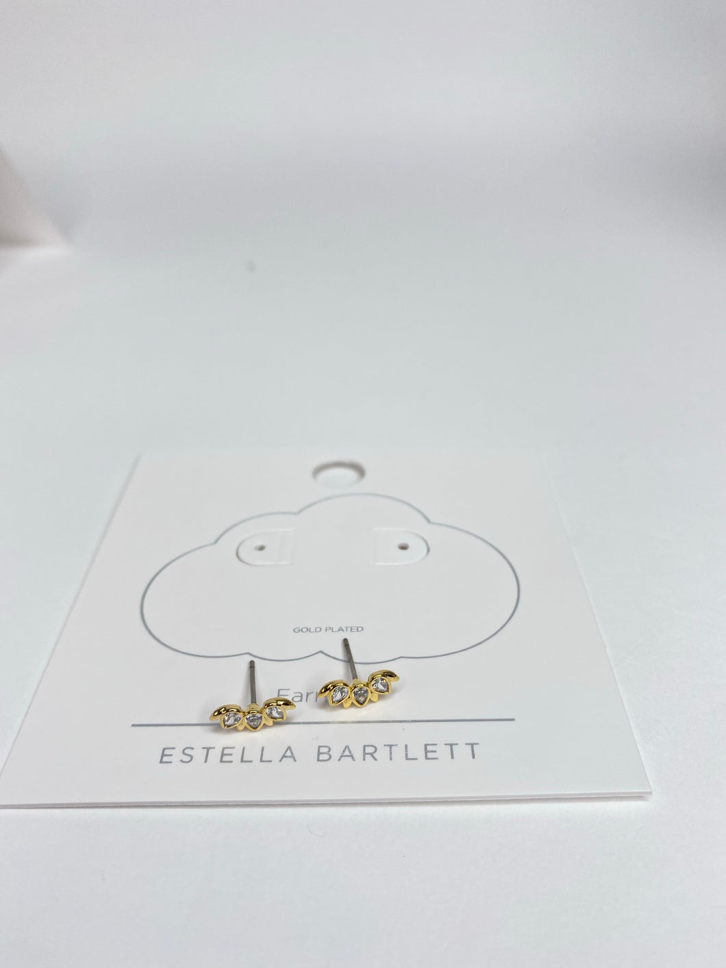 Gold petal climber earrings