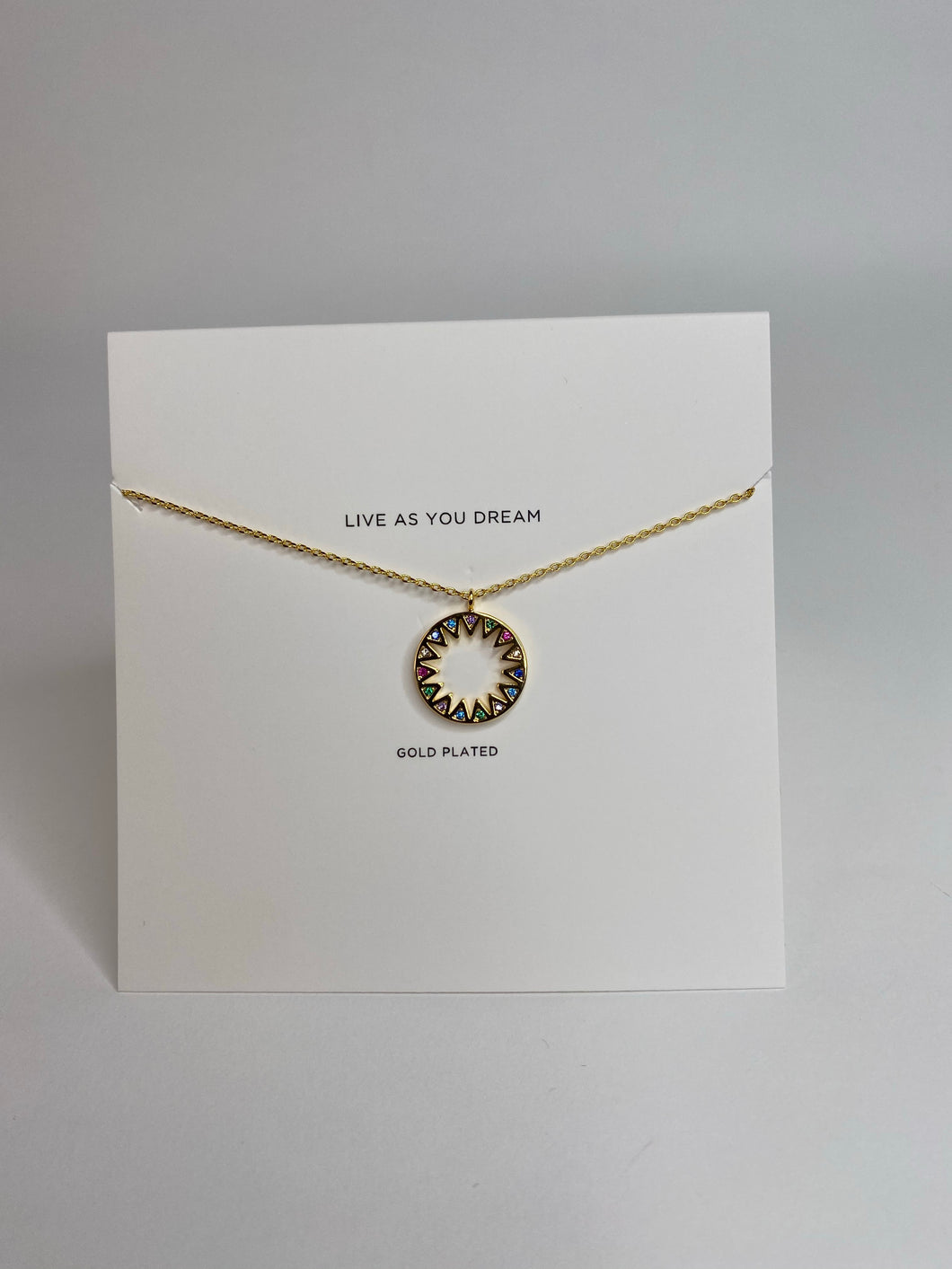 Gold Rainbow Sunshine Necklace