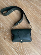 Load image into Gallery viewer, Dark Green Chunky Strap Crossbody Bag