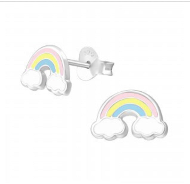Silver Rainbow Studs - childrens