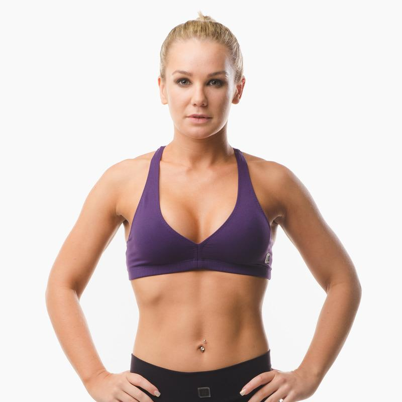 Load image into Gallery viewer, ZAAZEE Abi Racer-back Sports bra Eminence Purple